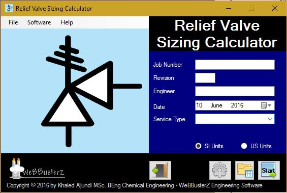 Pressure Relief Valve Sizing Calculator By Webbusterz Engineering