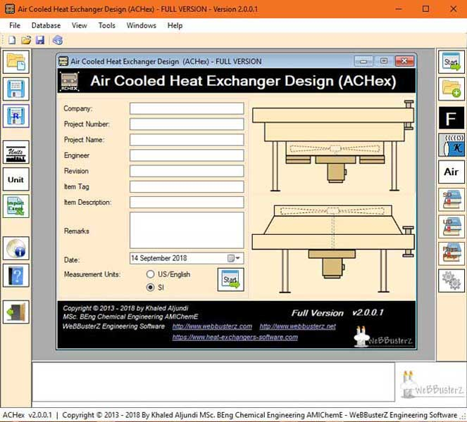 Air Cooled Heat Exchanger Design Screenshot