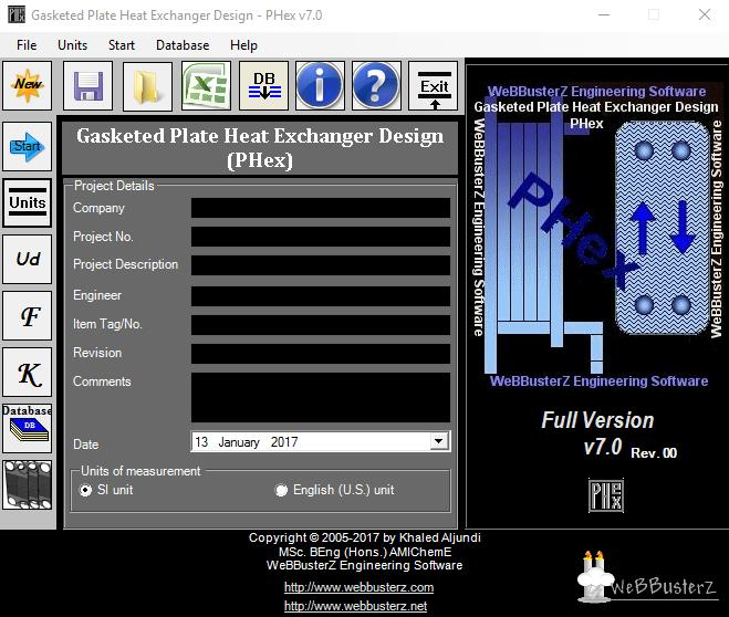 Click to view Gasketed Plate Heat Exchanger Design screenshots